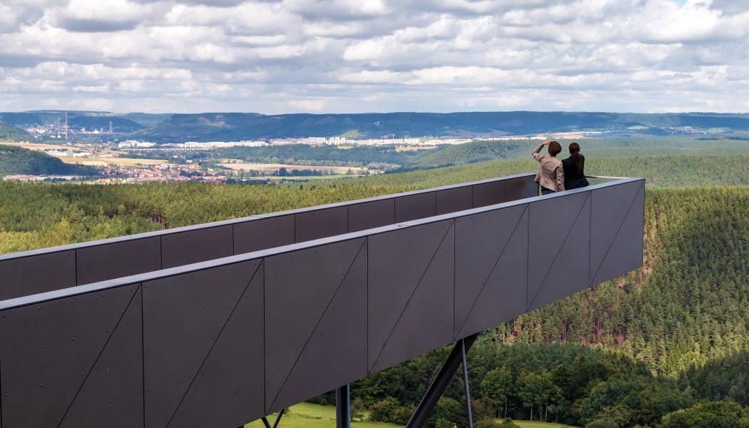 39 Fantastische Panoramablicke ber das Saaletal vom Skywalk