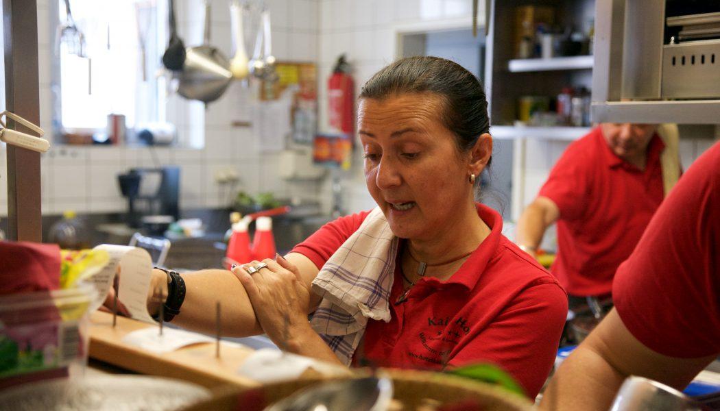 In der Küche im Landhotel Kains Hof