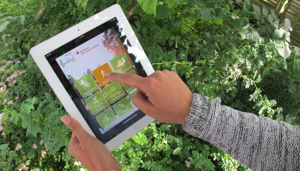 Startbildschirm App Freizeitverführer Jena-Saaleland