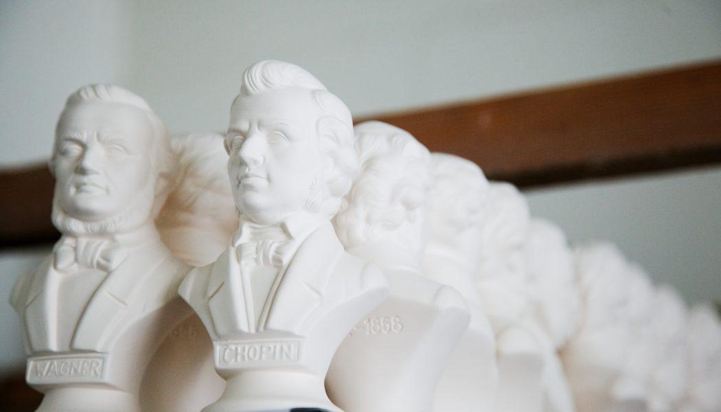 Wagner & Chopin Porzellanbüsten von Wagner & Apel Porzellan